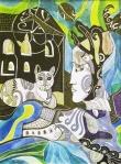 Krešimira Gojanović, ''Sjećanje'', crtež tuš na papiru, 40x30 cm