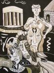 Krešimira Gojanović, ''Štokholmski sindrom'', crtež tuš na papiru, 40x30 cm