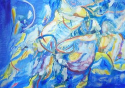 Marija Kruljac, ''Kupačice'', akril na platnu, 70x100 cm