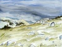 Jelena Martinović, ''Put na Vaganski vrh 2'', akvarel