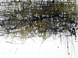Svebor Vidmar, ''Mreža'', tuš u boji na papiru, 30x40 cm, 2005
