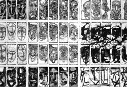 Svebor Vidmar, ''Face to face'' - detalj, instalacija, 1997