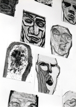 Svebor Vidmar, ''Face off'' - detalj 2, instalacija, 1998