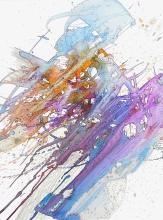 Svebor Vidmar, ''Tragovi'', tuš u boji na papiru, 40x30 cm, 2004