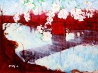Alfred Krupa, ''Trešnjini cvjetovi'', ulje na platnu