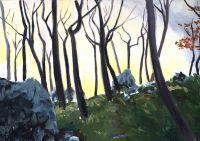 Jelena Martinović, ''Čudesna šuma'', akril na platnu