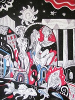 Kresimira Gojanovic, ''Saturnalije 2'', crtez tuš na papiru