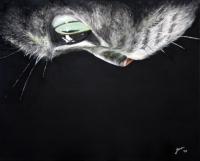Ivana Kolic, ''Mačka'', tempera na platnu, 40x50 cm