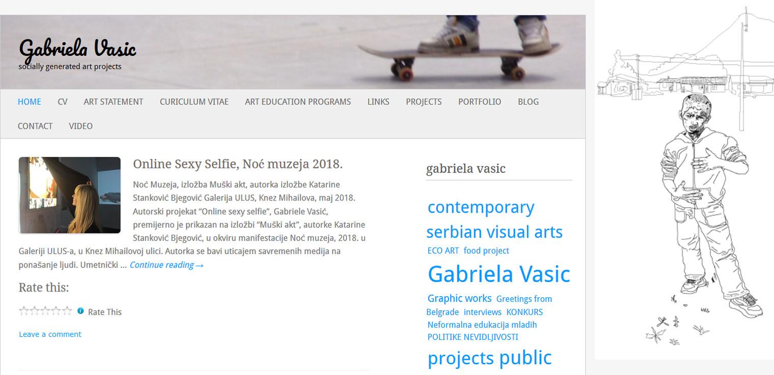 Upoznavanje portreta web stranice