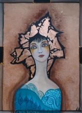 Miroslava Kos, ''Ona'', akril na platnu, 70x50 cm