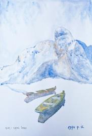 Alfred Freddy Krupa, ''Klek i kupski čamci'', 56 x 38 cm, 2015.