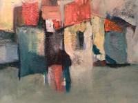 Ana Cerovski, ''Kugina kuća'', kombinirana tehnika, 60x80 cm