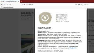 HDLU-ove cijene ulaznica u Meštrovićev paviljon za umjetnike, članove drugih strukovnih likovnih udruga