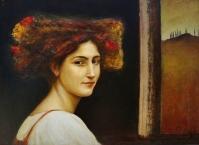 """Danko Merin, ''Reminiscence in modo clasico"""", ulje na platnu, 60x80 cm"""