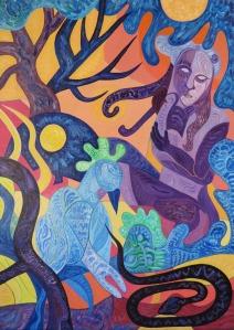 Krešimira Gojanović, ''Divljina'', akril na platnu, 70x50 cm