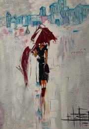 Snježana Šebalj, ''Silueta'', akril na platnu