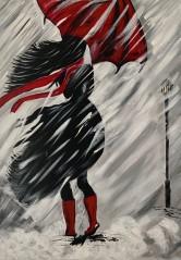 Snježana Šebalj, ''Ledena kiša'', akril na platnu