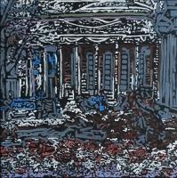 Darija Dolanski Majdak, ''Džamija'', ulje na platnu, 50x50 cm