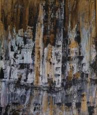 Marija Kruljac, ''Grad'', akril na platnu, 48x38 cm