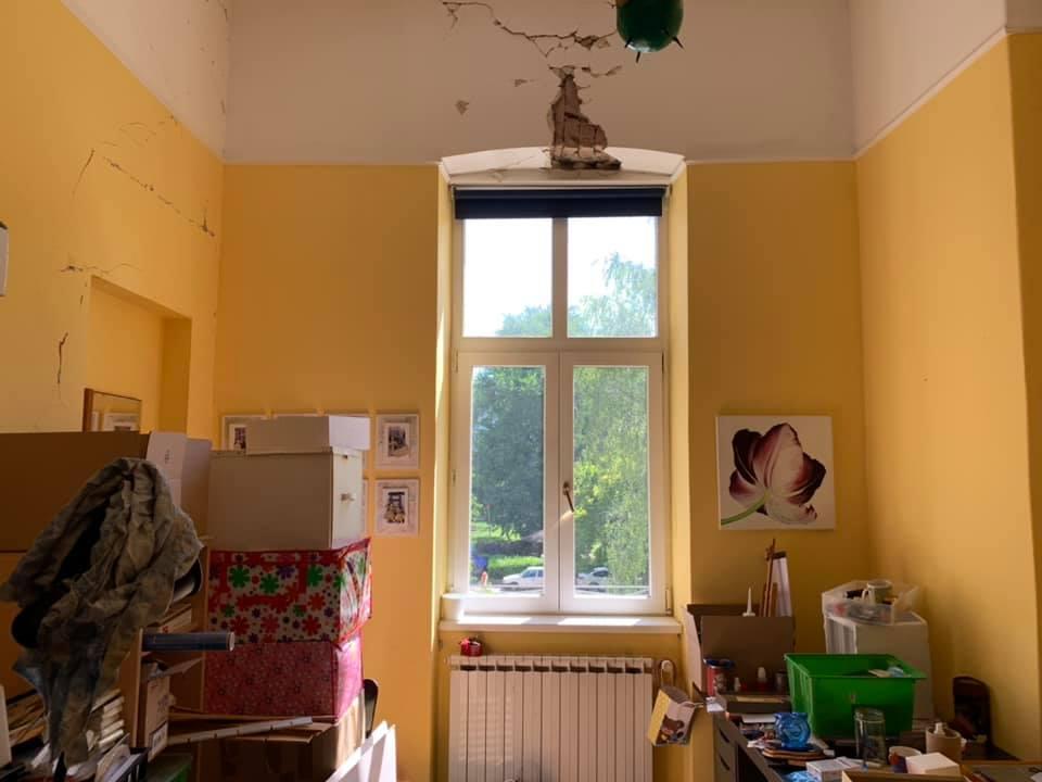 Sonja Šimatić, ''Atelje, detalj nakon potresa''