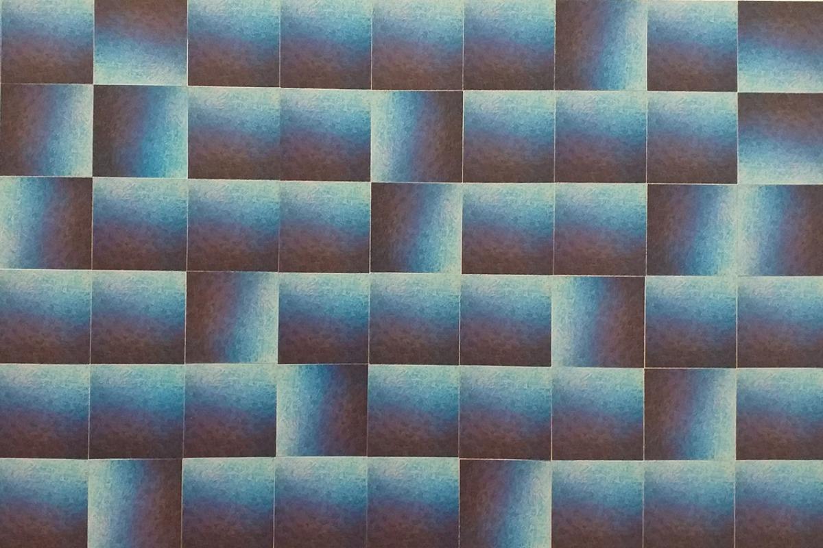 Adrijana Šuran, ''Morska glazba'', kolaž na papiru, 30x47 cm