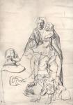 Ana Pintarić, ''Kompozicija 1'', grafitna olovka na papiru, 59x42 cm