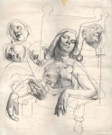 Ana Pintarić, ''Smrt Kleopatre'', grafitna olovka na papiru, 51x42 cm