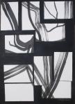 """Antonija Cesarec, """"Sputanost"""", tuš na papiru, 50x35 cm"""