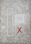 "Antonija Cesarec, ''Zona X"", kombinirana tehnika – bricolage, 70x50 cm"