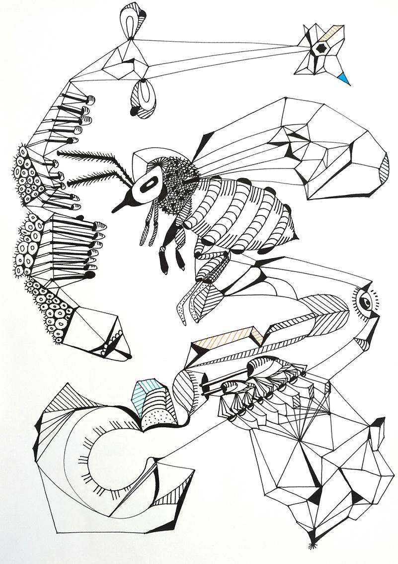 Davorin Kulaš, ''Big choice'', flomaster na papiru, 29x21 cm