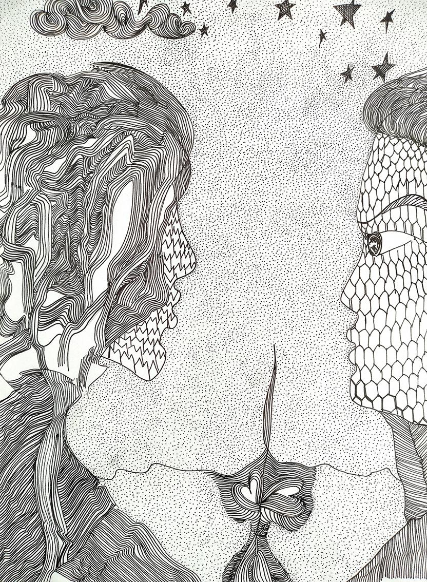 Jasna Kulaš, ''Lonely day after hope'', flomaster na papiru, 29x21 cm