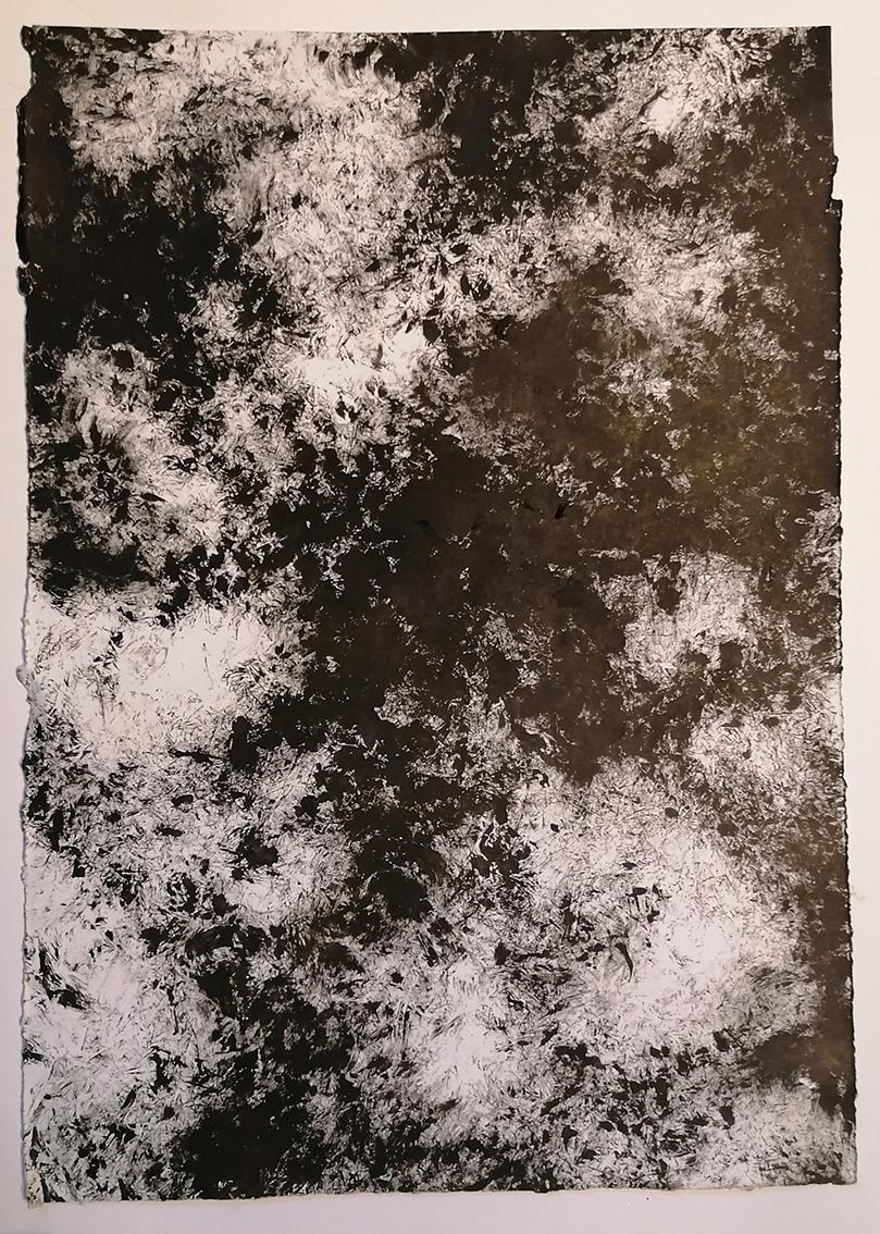 Karla Horvat, ''Sjene II'', tuš na papiru, 35x24,5 cm