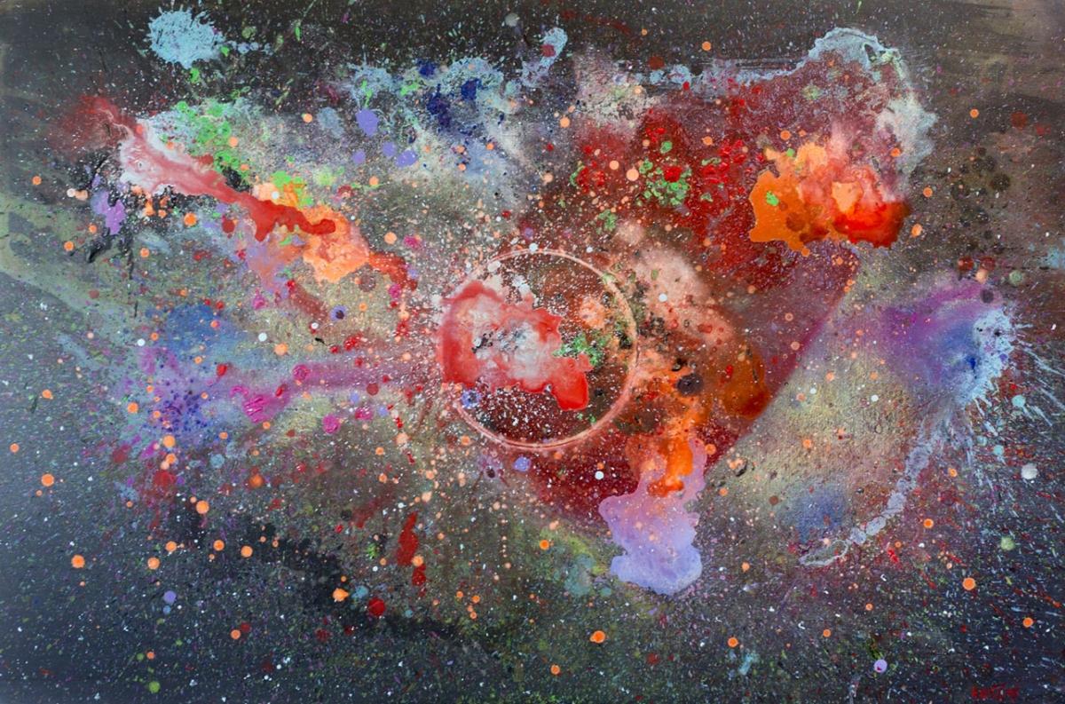 Luka Koščak, ''Svemir(1)'', akril na platnu,100x150 cm