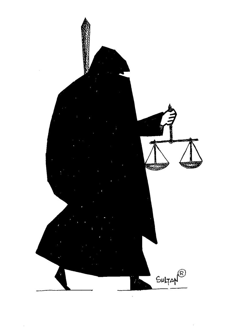 Rešad Sultanović Sultan, crtež 1, tuš na papiru, 30x21 cm