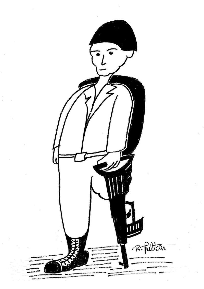Rešad Sultanović Sultan, crtež 3, tuš na papiru, 30x21 cm