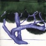 Valentina Marđetko, ''Bor 1'', kombinirana tehnika na papiru, 20x20 cm