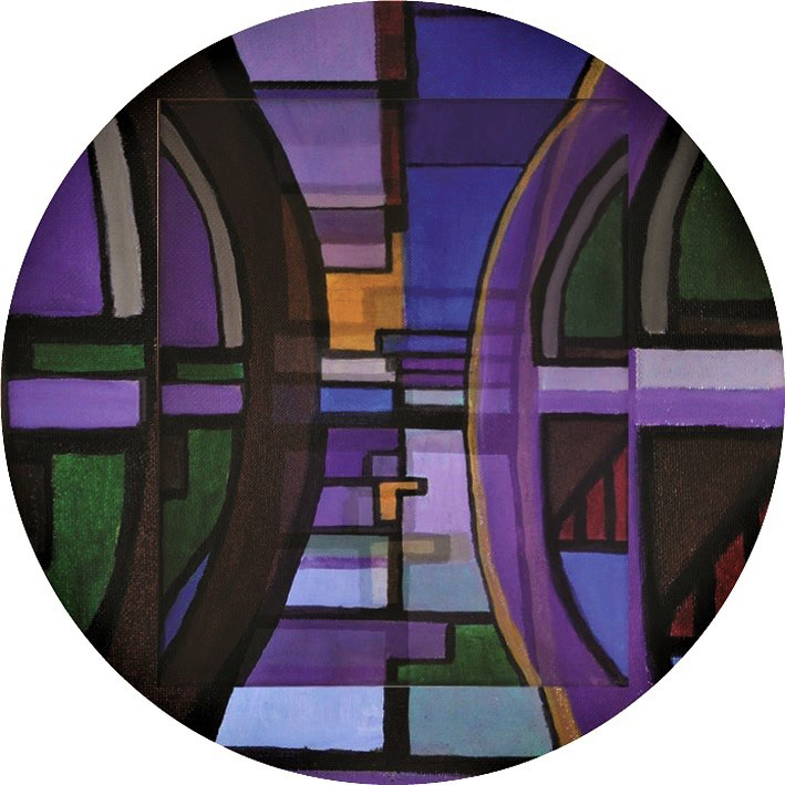 Vedran Bukovina, ''Ribe'', pleksiglas, kombinirana tehnika, 100x100 cm