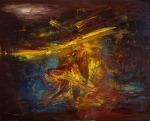 Vedran Ružić, ''Wagner's Siegfried's death'', ulje na platnu, 73x90cm