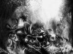 Veronika Stehr, ''Sanjar u polju II'', digitalni crtež, 29,7x42 cm