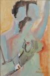 Adalgisa Škopac, ''Obraz uz obraz'', ulje na papiru, 30x20 cm