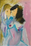 Adalgisa Škopac, ''Osvještena ljubav'', ulje na papiru, 30x20 cm