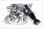 Branka Popov Ostojić, ''Blank pages'', digitalno obrađen autorski crtež, 72x108 cm