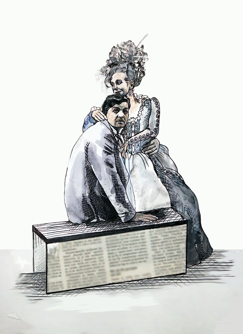 Branka Popov Ostojić, ''Na horizontu'', digitalno obrađen autorski crtež, 108x79 cm