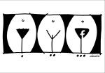 Dado Kovačević, ''Normal - Light - Virtual'', crtež flomaster, A4