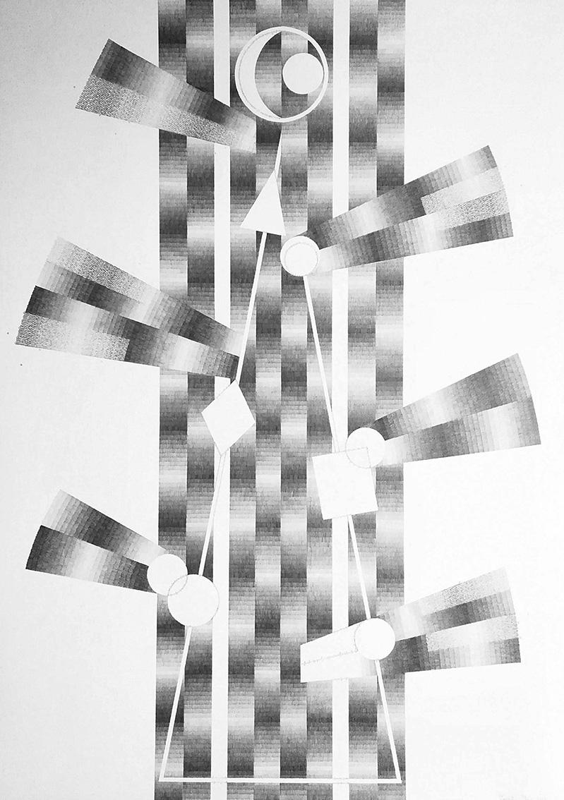 Izabela Hren, ''Slobodan duh'', crtež – olovka na papiru, 101x72 cm