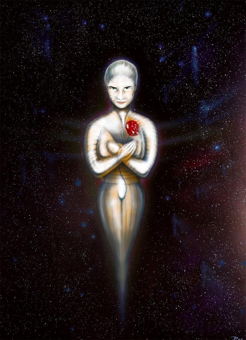Mario Rosanda, ''Velvet'', zračni kist, akril na papiru, 100x70 cm