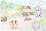 Oleg Perčinić, ''Nestašni Cupid'', digitalni crtež, A4