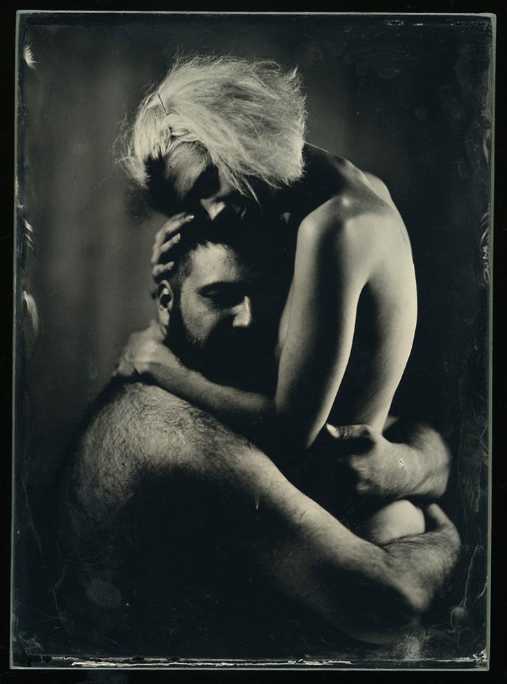 Robert Gojević, ''Ljubav (4)'', ambrotipija, 12x16,5 cm