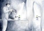 Tamara Bućan, ''Skrb'', akvarel, A3