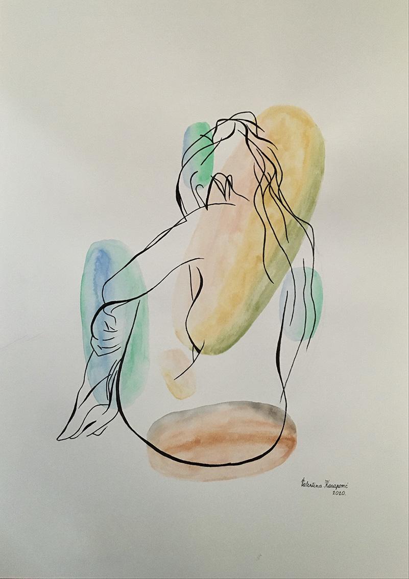 Valentina Kasapović, ''Preobrazba'', kombinirana tehnika, 42x30 cm